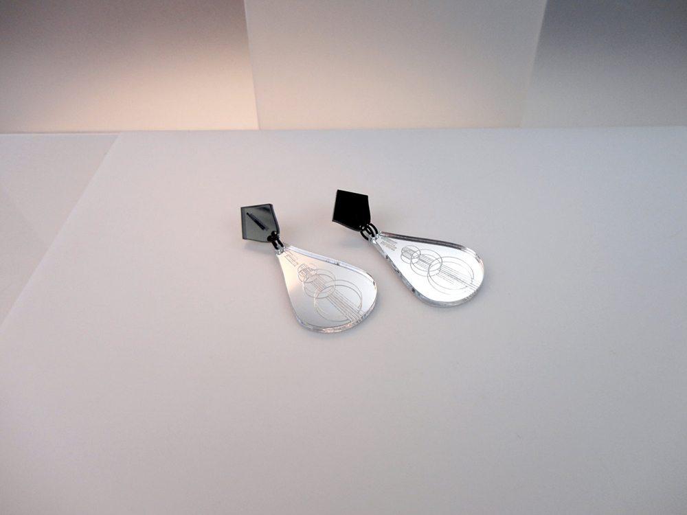 acrylic mirror earrings