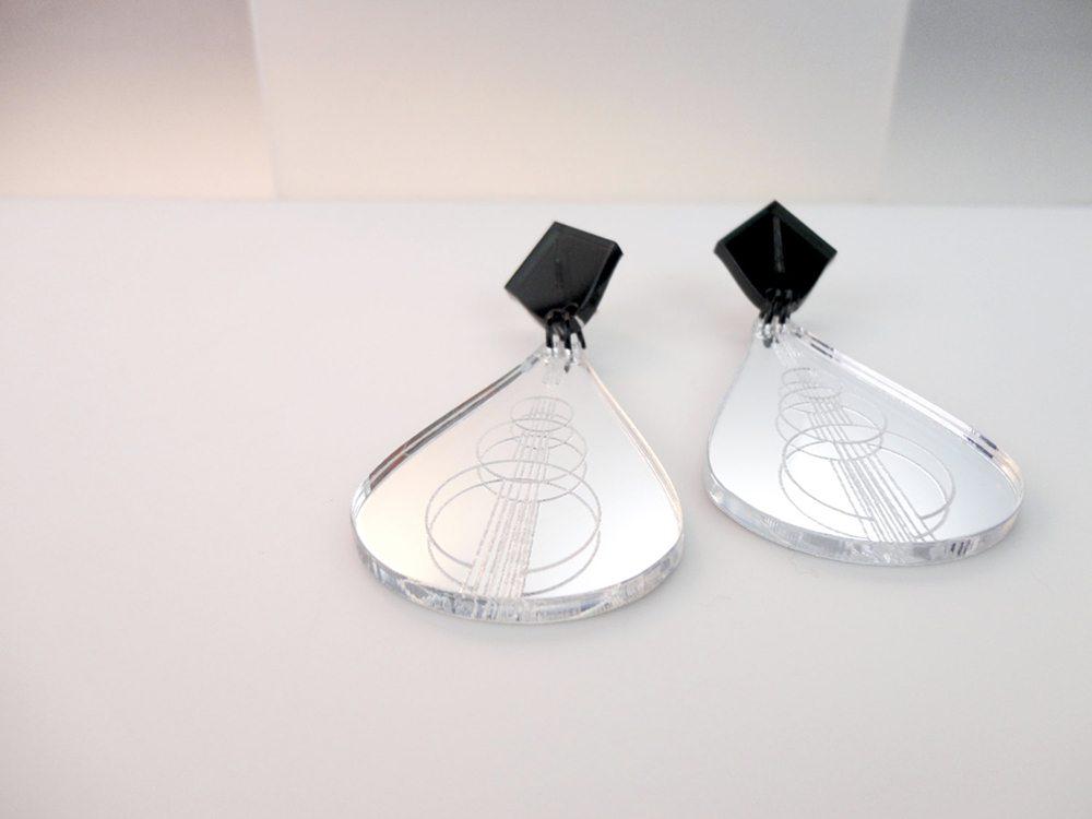 acrylic mirrored earrings