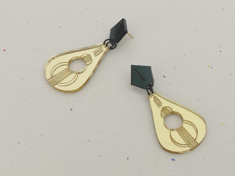 musical perspex earrings