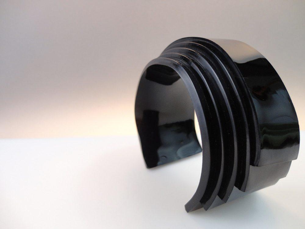 Unum   Black Avantgarde Sci-fi Bracelet 1