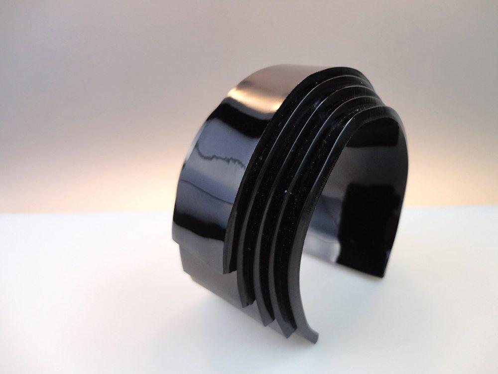 Unum   Black Avantgarde Sci-fi Bracelet 2