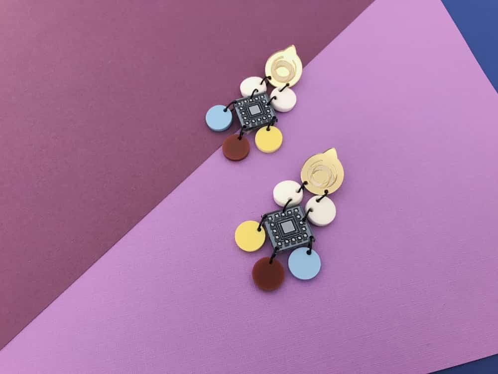art deco inspired geometric modern earrings