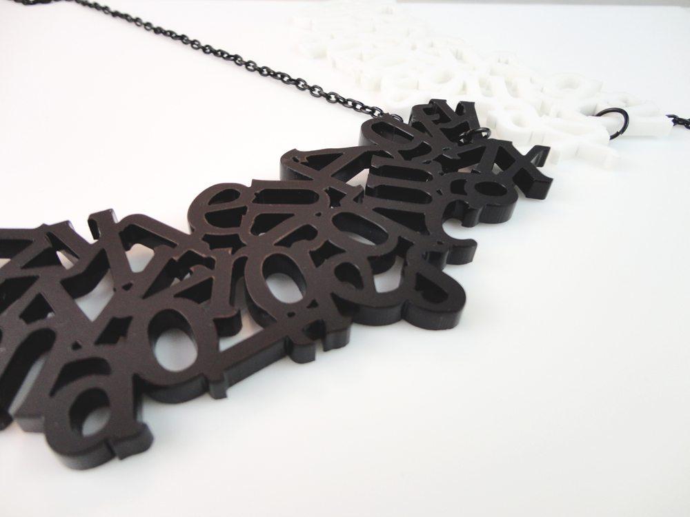 Alphabet   Plexiglass Necklace 2