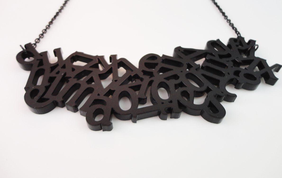 Alphabet   Plexiglass Necklace 4