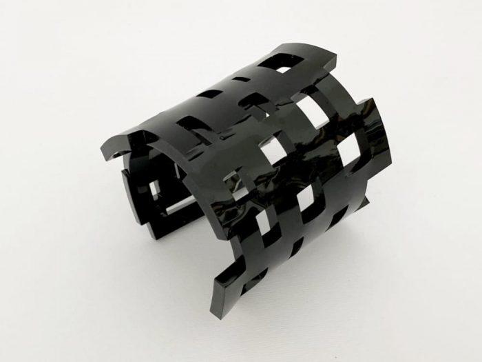 Black Geometric Plexiglass Bracelet