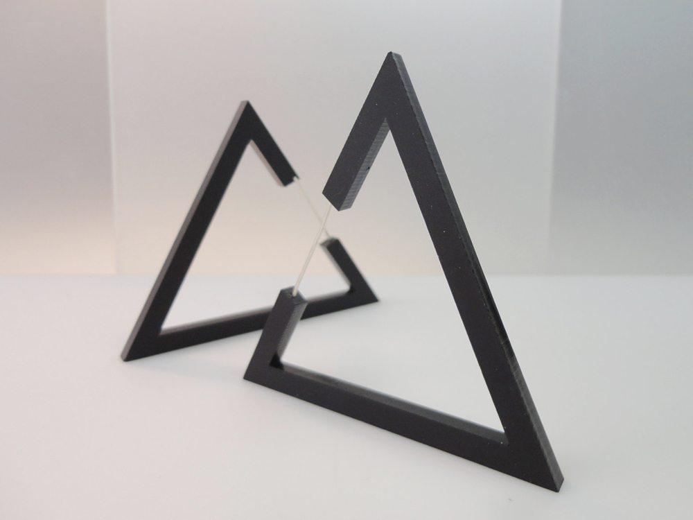 Hecker | Big Black Triangle Earrings 3
