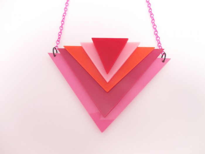 eclectic triangle necklace