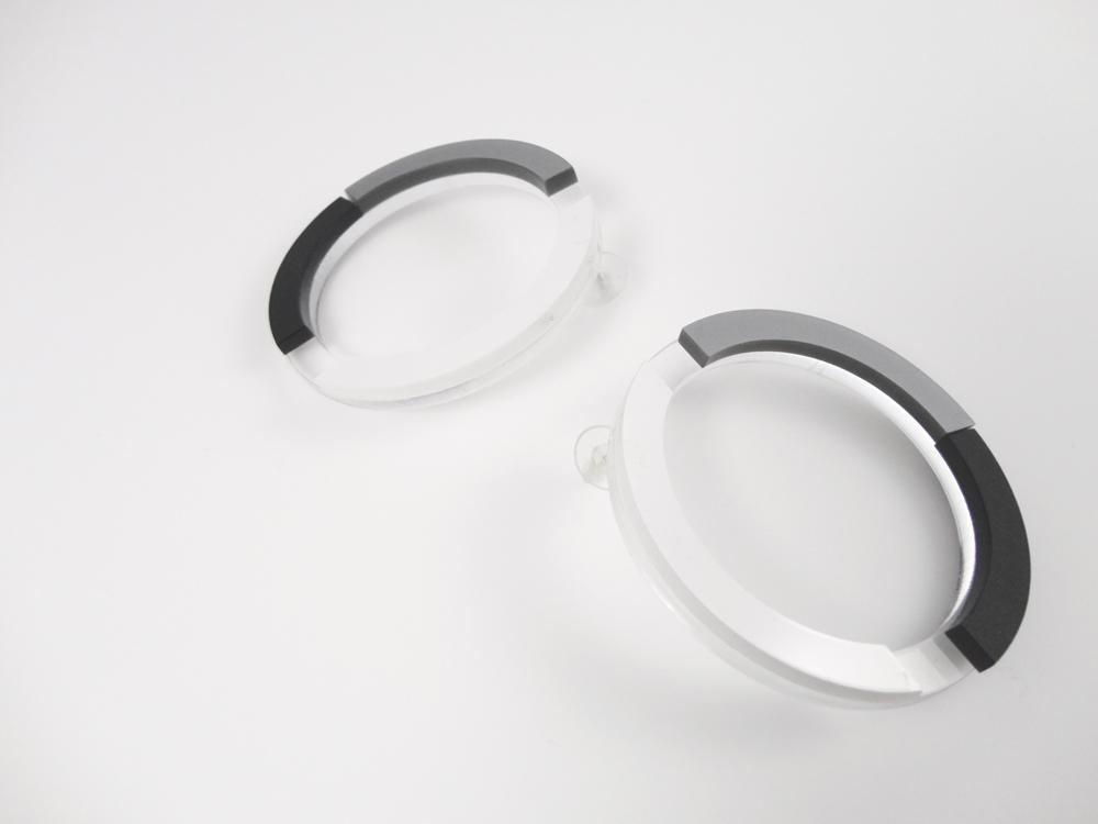 Big Round Plexiglass Earrings 1