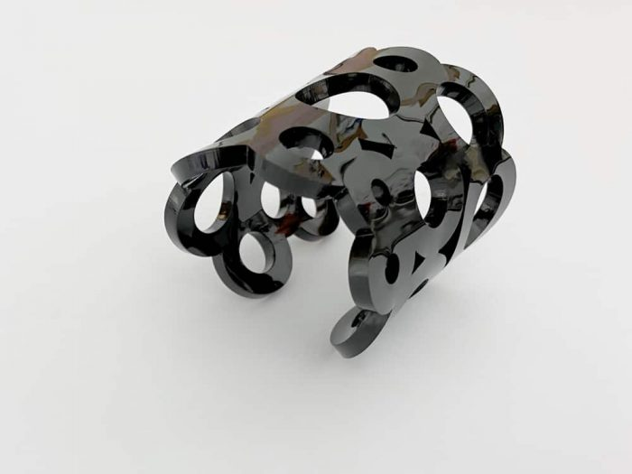 big black plexiglass bracelet
