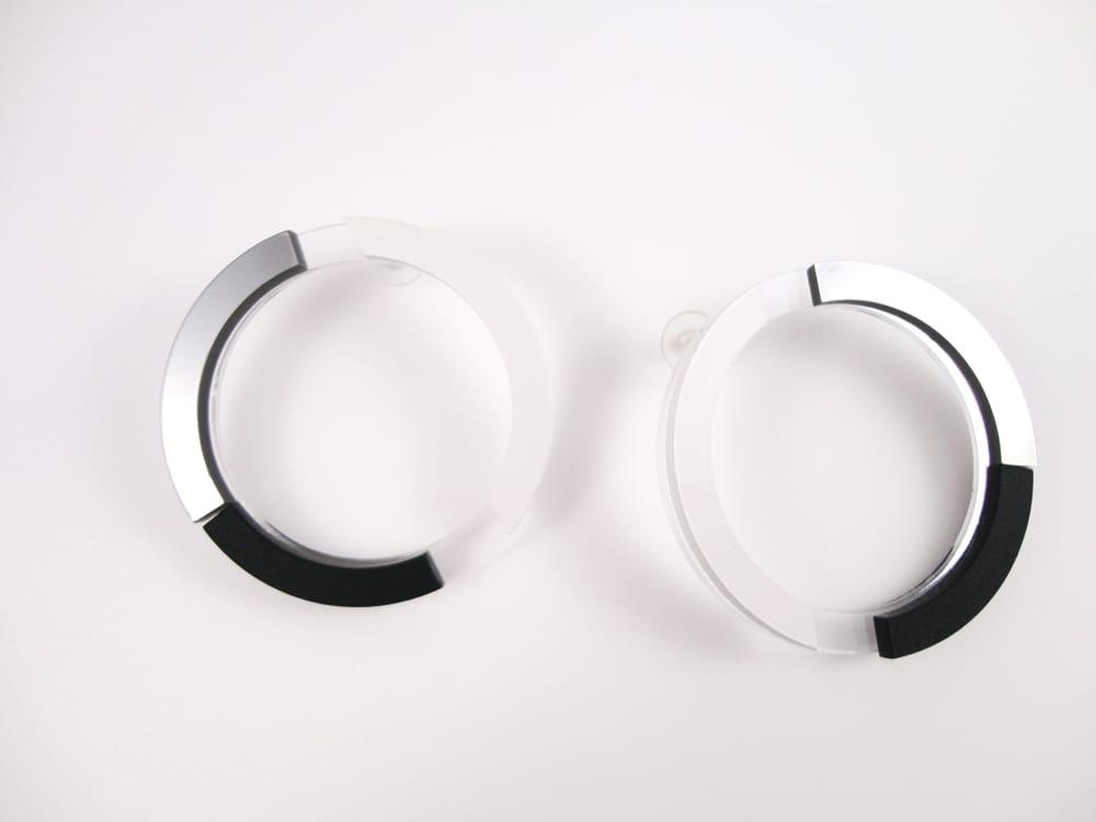 big round plexiglass earrings