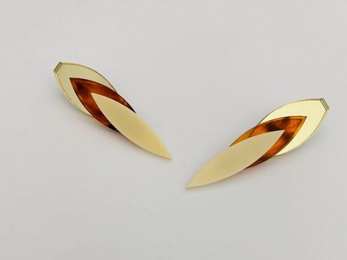 plexiglass chic autumn earrings