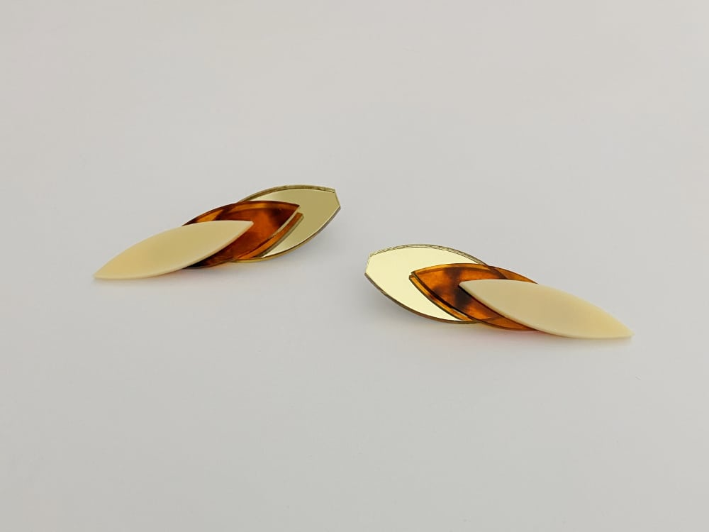 chromatic chic autumn earrings