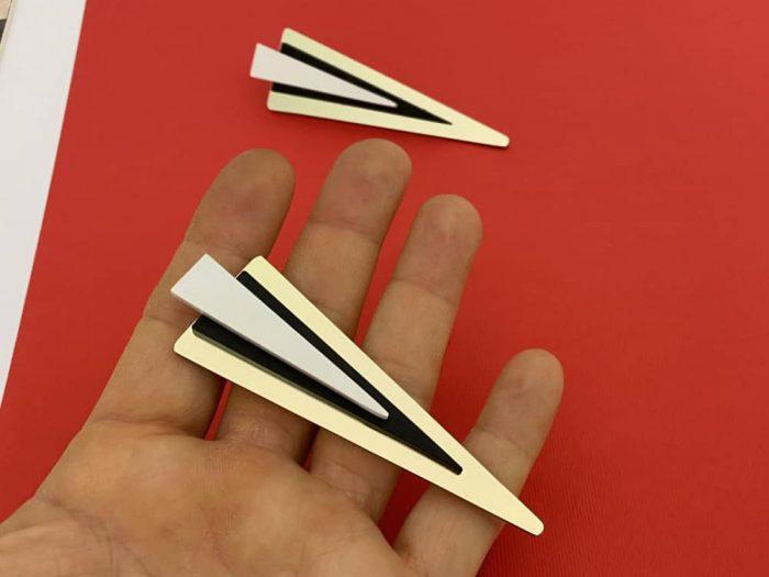 experimental earrings by plexishock design