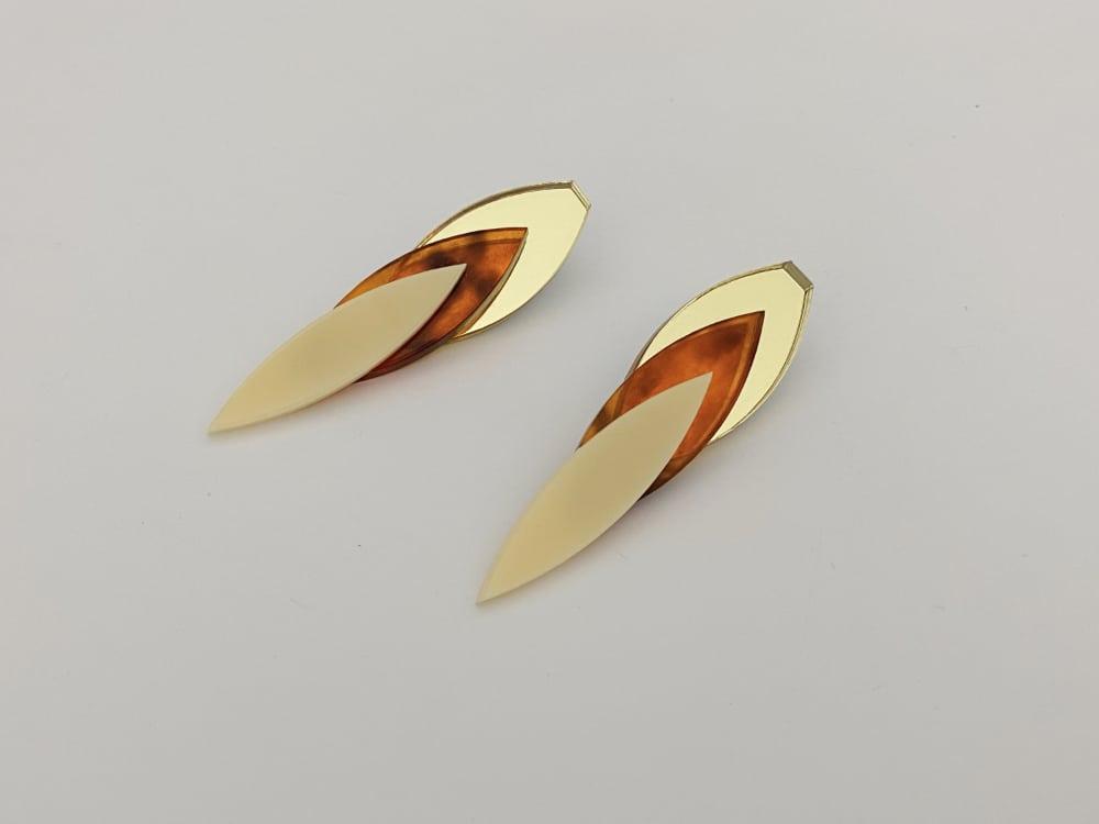 long chic elegant perspex earrings