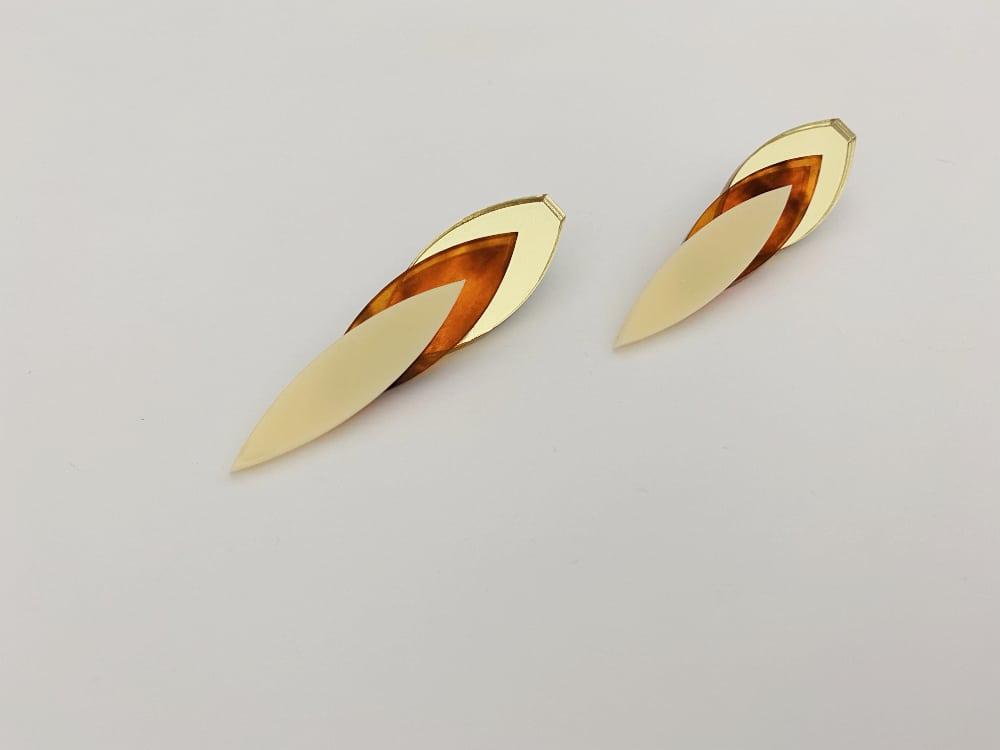 perspex elegant earrings