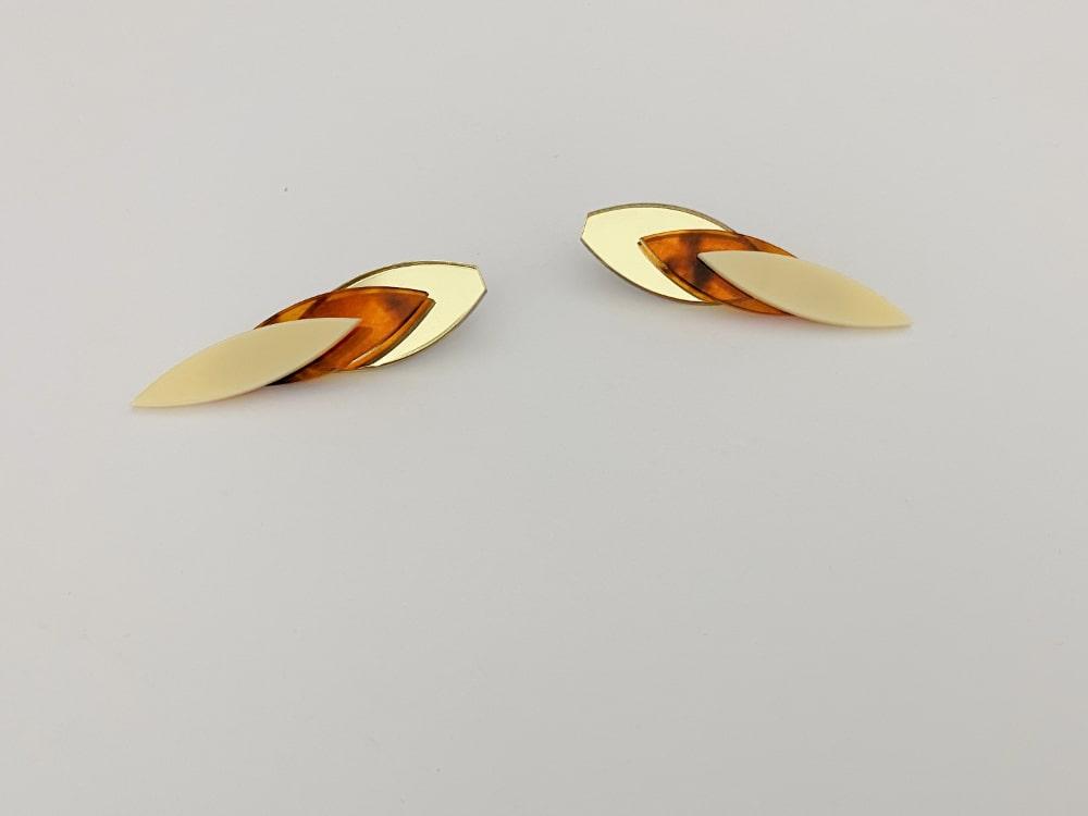 plexiglass chic earrings