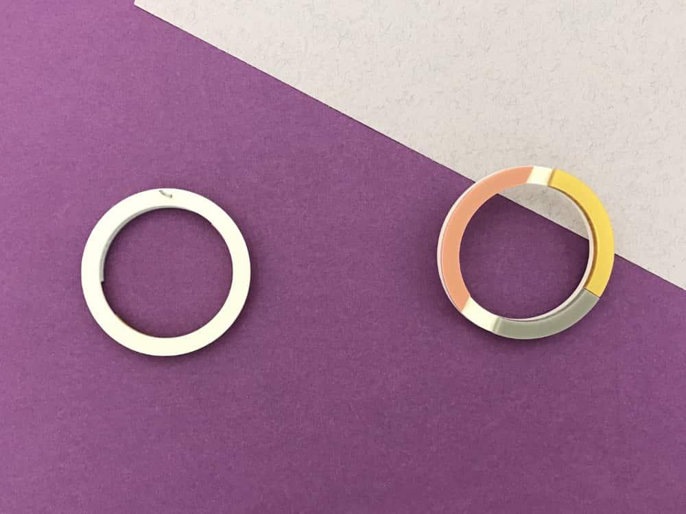 plexiglass round earrings