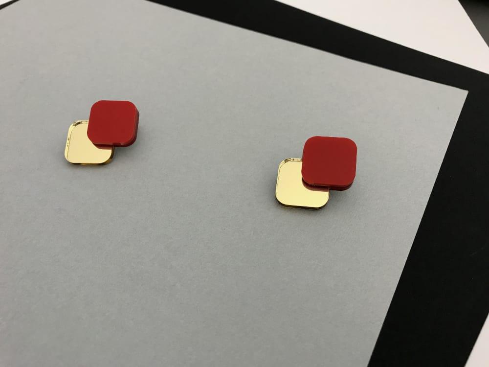 Minimal Red Earrings