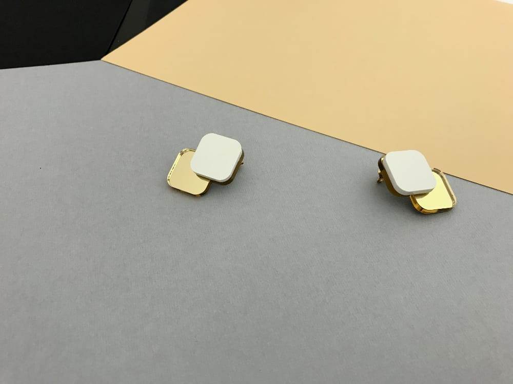 Minimal White Earrings