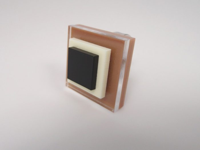 chocolate square chic ring