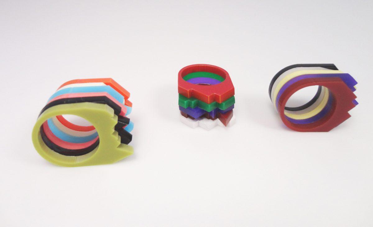 Multilayer Multicolor Plexiglass Ring 1