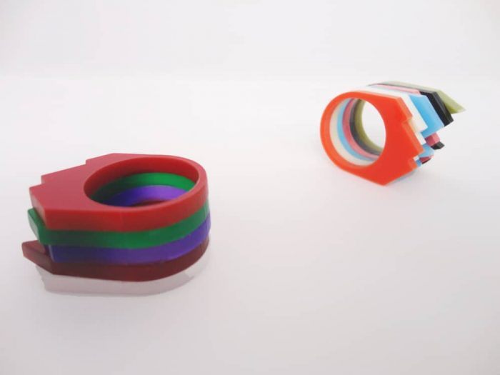 experimental plexiglass ring set by plexi shock