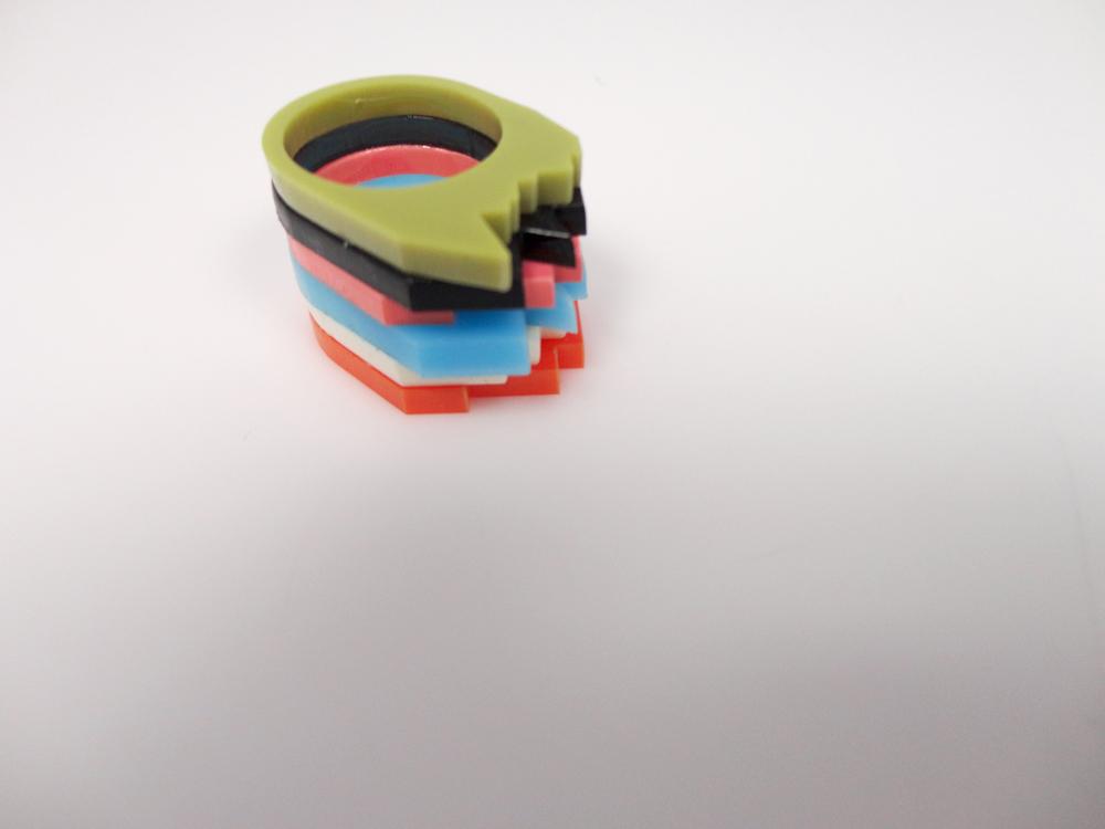Multilayer Multicolor Plexiglass Ring 2