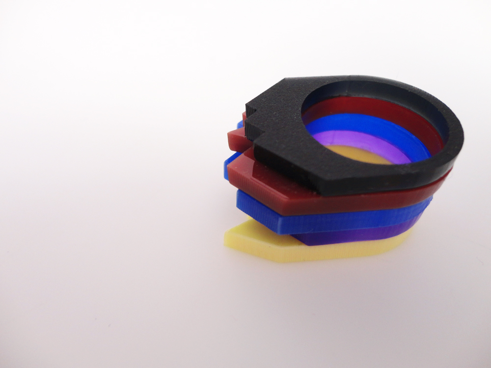 Multilayer Multicolor Plexiglass Ring 4