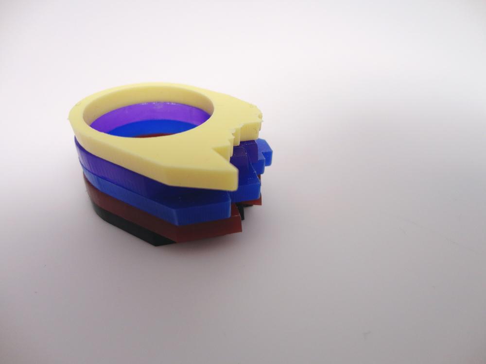 Multilayer Multicolor Plexiglass Ring 5