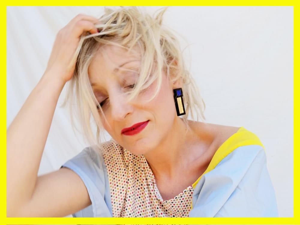 acrylic glass earrings