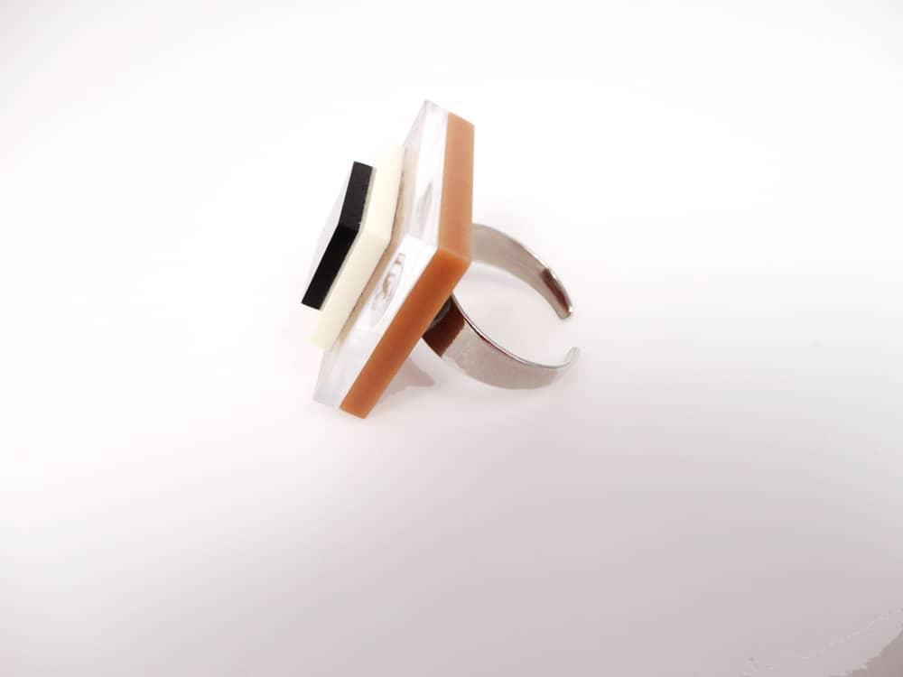 Chocolate Square Chic Ring 1