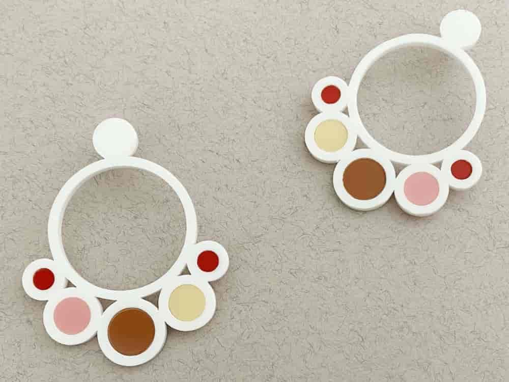 white perspex earrings