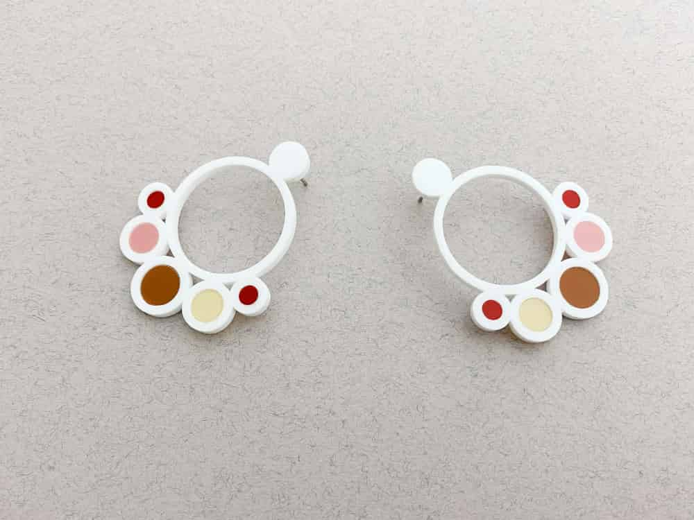 beehive perspex earrings