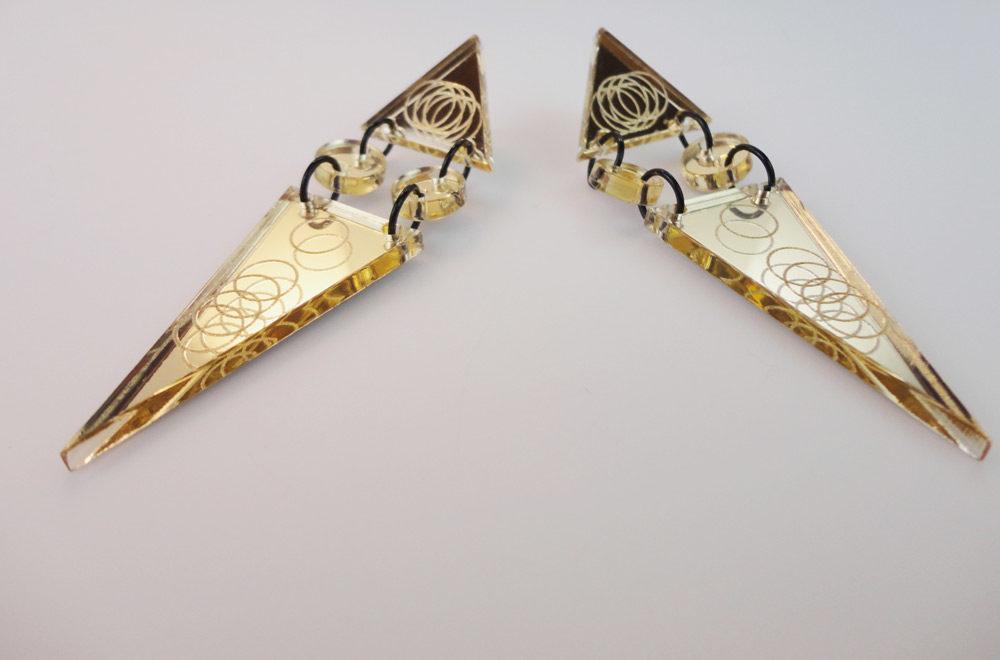 Cassandra | Art Deco Triangle Earrings 3