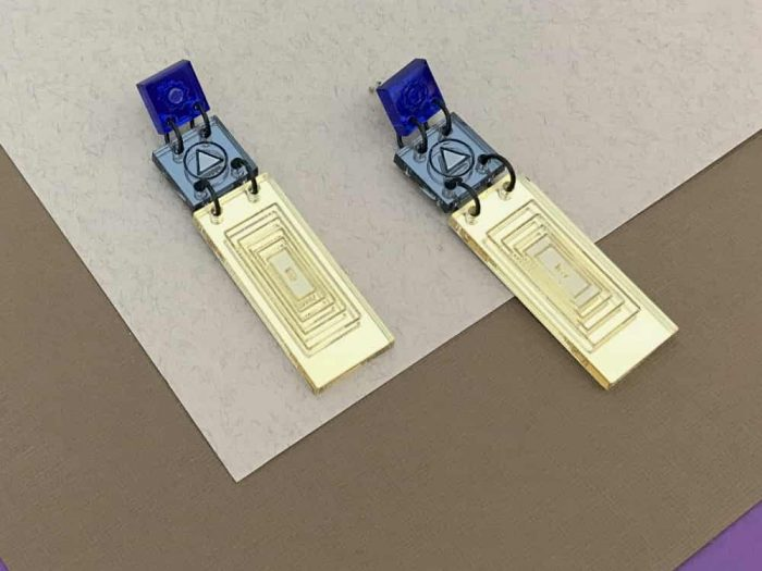 geometric square rectangle earrings