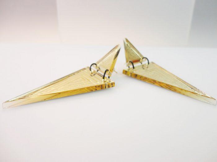 Triangoli Acrilici Specchiati Oro