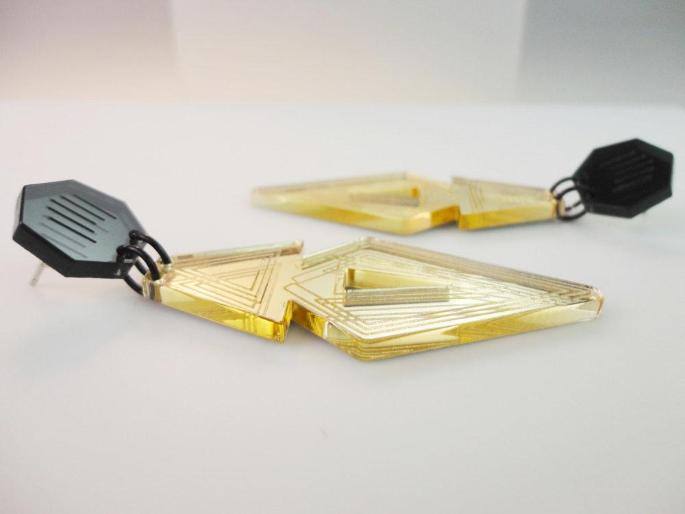 Raum | Gold Mirror Stud Earrings 4