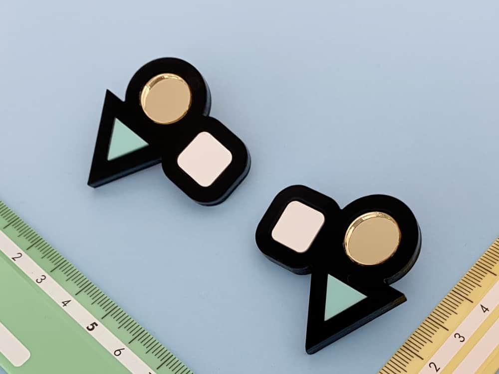 acrylic design earrings