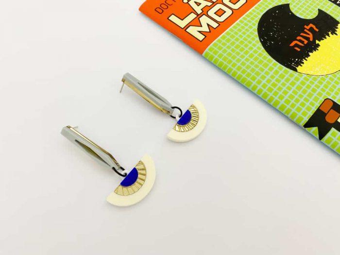 art deco moving dangle earrings by plexi shock