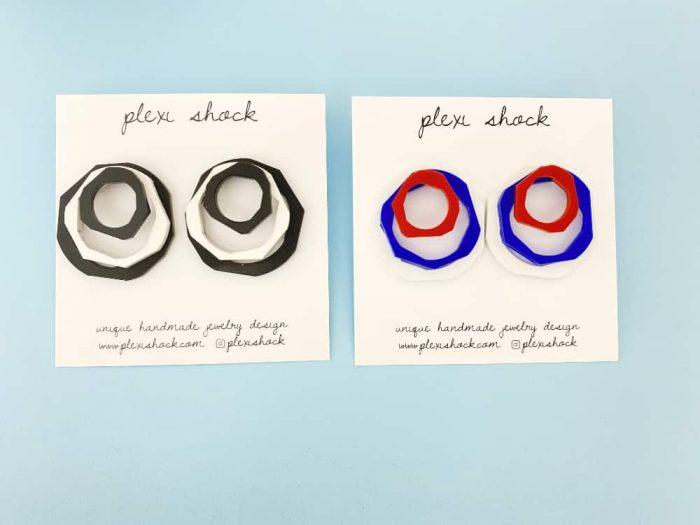 avant-garde perspex earrings