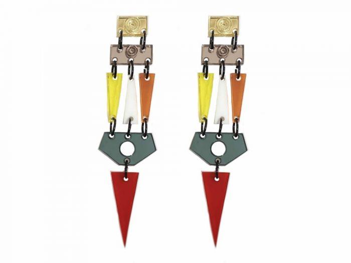 orecchini perspex colorati