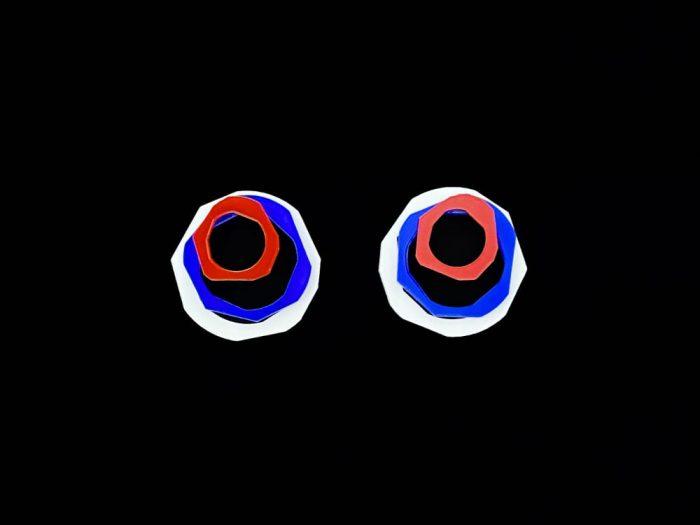 eye catching statement acrylic earrings