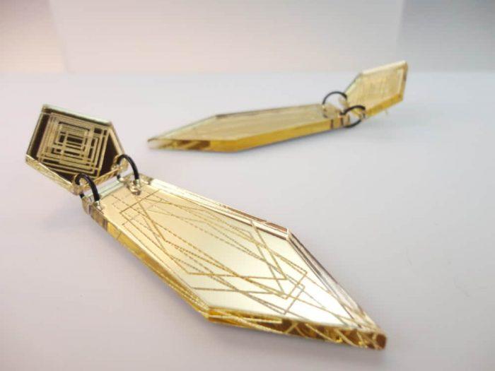 irregular pentagon earrings