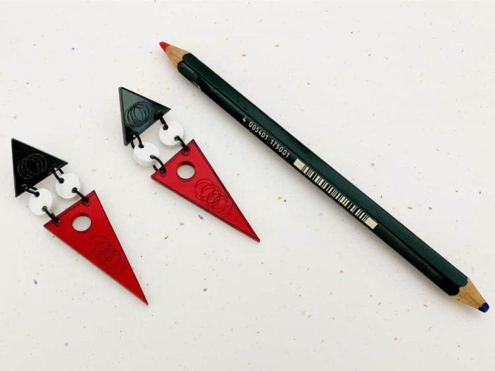 orecchini triangoli art deco