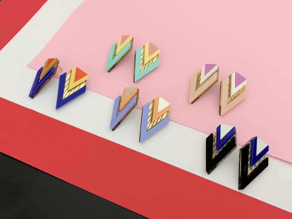 Art Deco Perspex Chic Earrings
