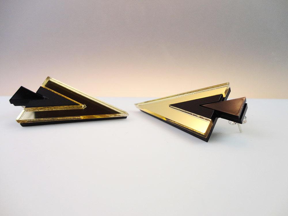 Ayahuasca | Avantgarde Triangle Stud Earrings 8