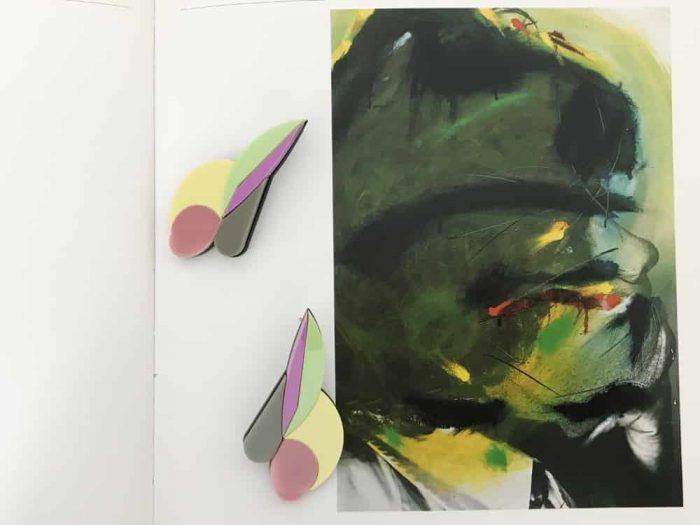 abstract plexiglass stud earrings