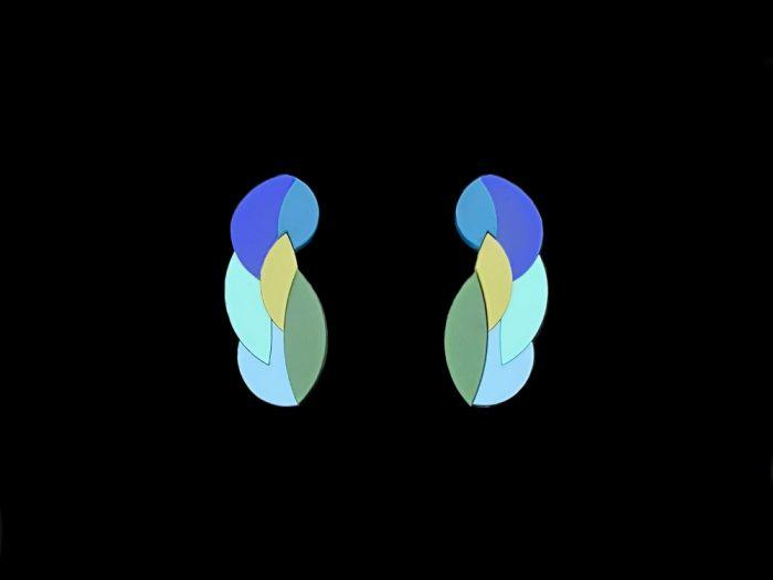 surreal earrings by plexi shock design jewellery