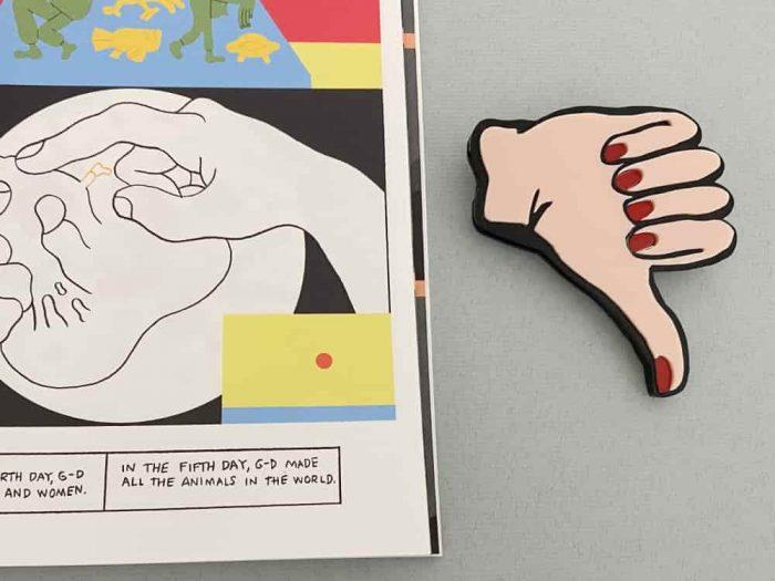thumb up brooch