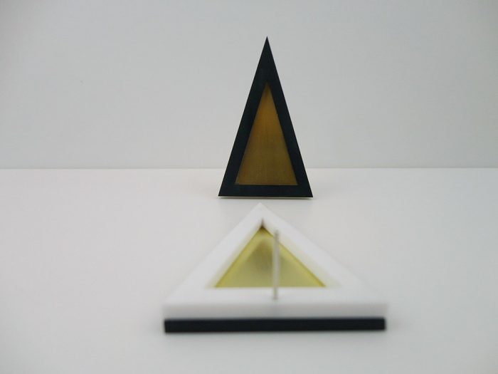 Big Eclectic Triangle Earrings